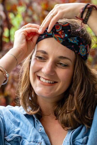 headband éthique miramichi fabriqué avec du tissu du Canada