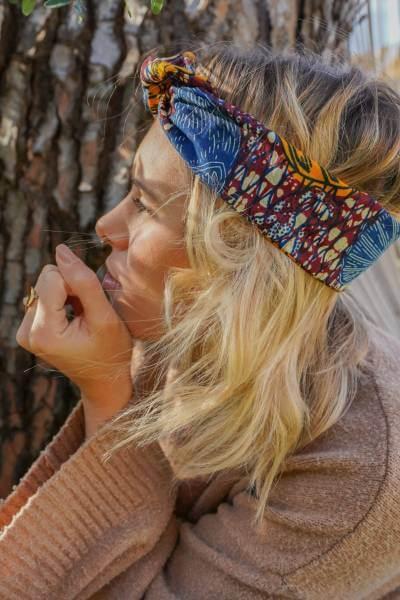 headband éthique fabriqué avec du tissu de tanzanie