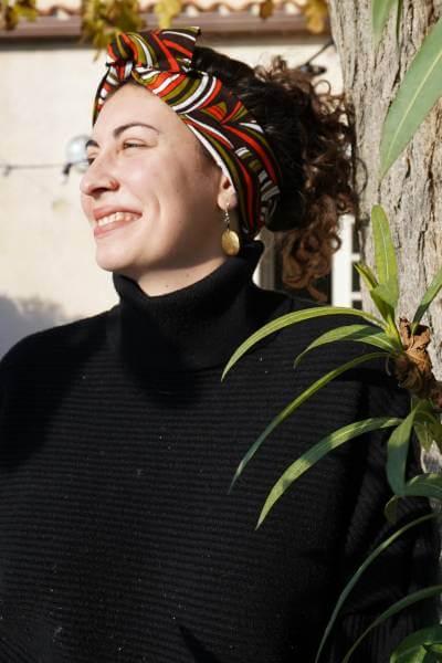 headband éthique fabriqué avec du tissu en wax de Tanzanie
