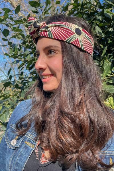 headband en wax provenant d'ouganda
